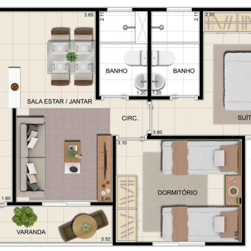 Prime-Arena-Apartamento-Manaus-planta-apartamento-tipo